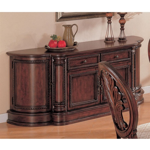 Tabitha 5 Piece Dining Set In Rich Cherry Finish By