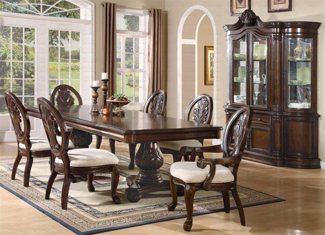 Tabitha 7 Piece Dining Set In Rich Cherry Finish By Coaster   101037