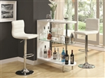 White Finish Bar Table by Coaster - 101064