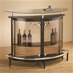 Contemporary Black Bar Unit with Clear Acrylic Front by Coaster - 101065
