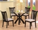 Lonar 5 Piece Contemporary Cappuccino Finish Dining Set with Round Glass  Table by Coaster - 101071-5