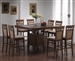Gabriel 5 Piece Counter Height Table Set in Chestnut Finish by Coaster - 101438