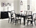 Louise 7 Piece Dining Set in Black Finish by Coaster - 101561