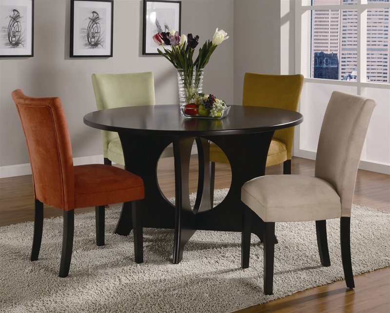 castana 5 piece dining set in rich cappuccino finishcoaster