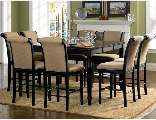 Rich Cappuccino Counter Height 9 Piece Dining Set By Coaster 101828