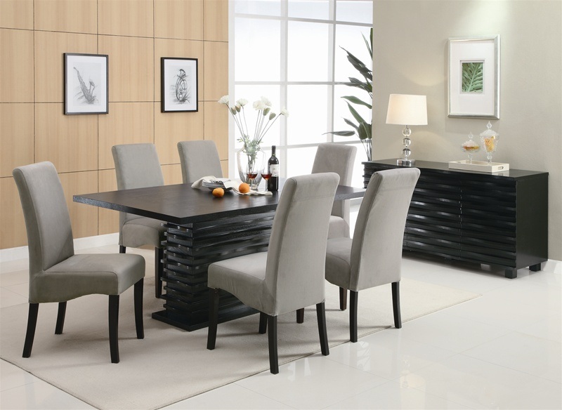 stanton 5 piece dining set in rich black finishcoaster - 102061