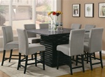 Stanton 5 Piece Counter Height Dining Set in Rich Black Finish by Coaster - 102068