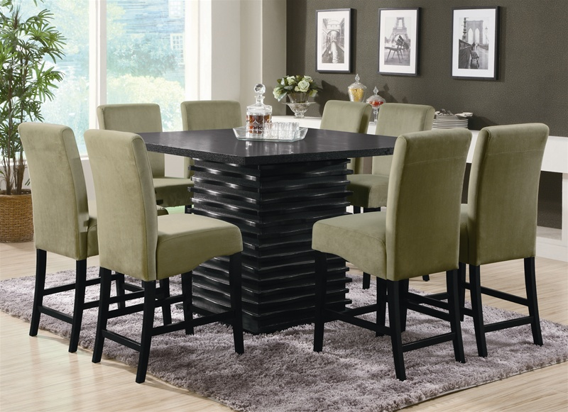stanton 5 piece counter height dining set in rich black finish Counter Height Dining Set