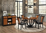Boyer 5 Piece Dining Set in Black and Amber Finish by Coaster - 102091