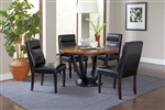Boyer 5 Piece Dining Set in Black and Amber Finish by Coaster - 102091-B