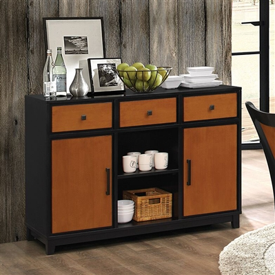Boyer Server in Black and Amber Finish by Coaster - 102096