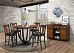 Boyer 5 Piece Counter Height Dining Set in Black and Amber Finish by Coaster - 102098