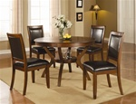 Nelms 5 Piece Dining Set in Brown Walnut Finish by Coaster - 102171