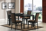 5 Piece Dining Set in Black Finish by Coaster - 102201