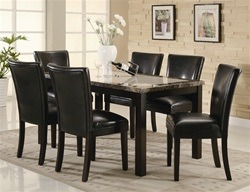 Carter 5 Piece Dining Set in Deep Cappuccino Finish by Coaster - 102260