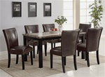 Carter 5 Piece Dining Set in Deep Cappuccino Finish by Coaster - 102260BR
