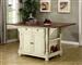 Kitchen Island Buttermilk and Cherry Two Tone Finish by Coaster - 102271