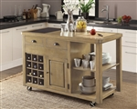 Kitchen Island in Weathered Natural Finish by Coaster - 102286