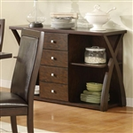 Dobson Server in Deep Oak Finish by Coaster - 102505