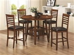 Knoxville 5Pc Counter Height Table Set in Oak Finish by Coaster - 102538