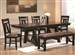 Bunker 5 Piece Dining Table Set in Brown/Black Finish by Coaster - 102651