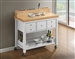 Kitchen Cart in Natural and White Finish by Coaster - 102669