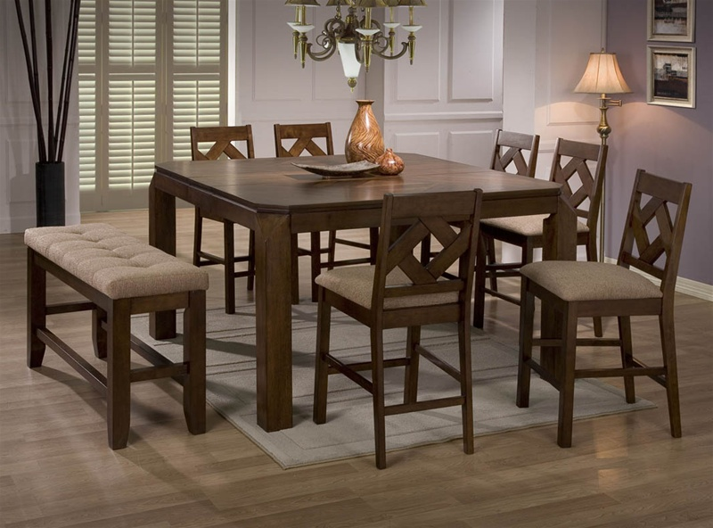 5 Piece Counter Height Dining Set In Walnut Finish By Coaster   102678 ·  Larger Photo Email A Friend