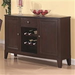 Memphis Server in Rich Cappuccino Finish by Coaster - 102765