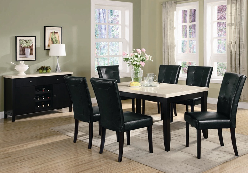 Anisa 7 Piece Dining Set in Dark Cappuccino Finish by Coaster - 102771