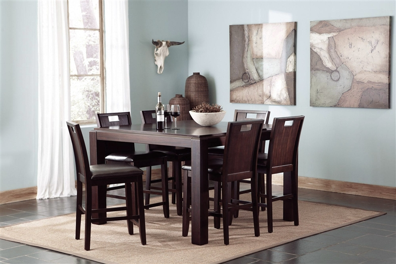 Good Prewitt 7 Pc Counter Height Dining Set In Espresso Finish By Coaster    102948