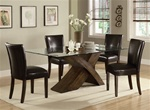 Nessa 5 Piece Dining Set in Deep Brown Finish by Coaster - 103051