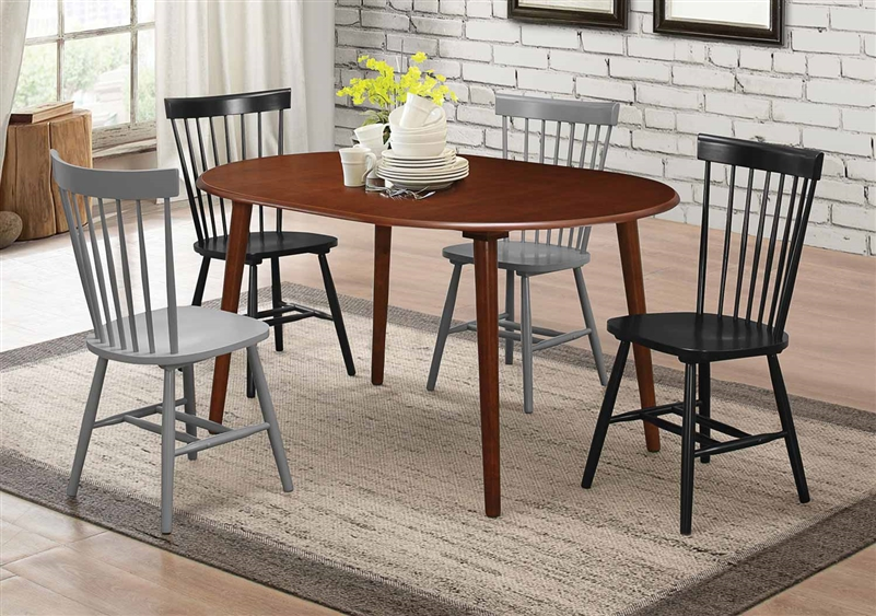 Emmett 5 Piece Oval Dining Table Set In Light Walnut Finish By Coaster    103070
