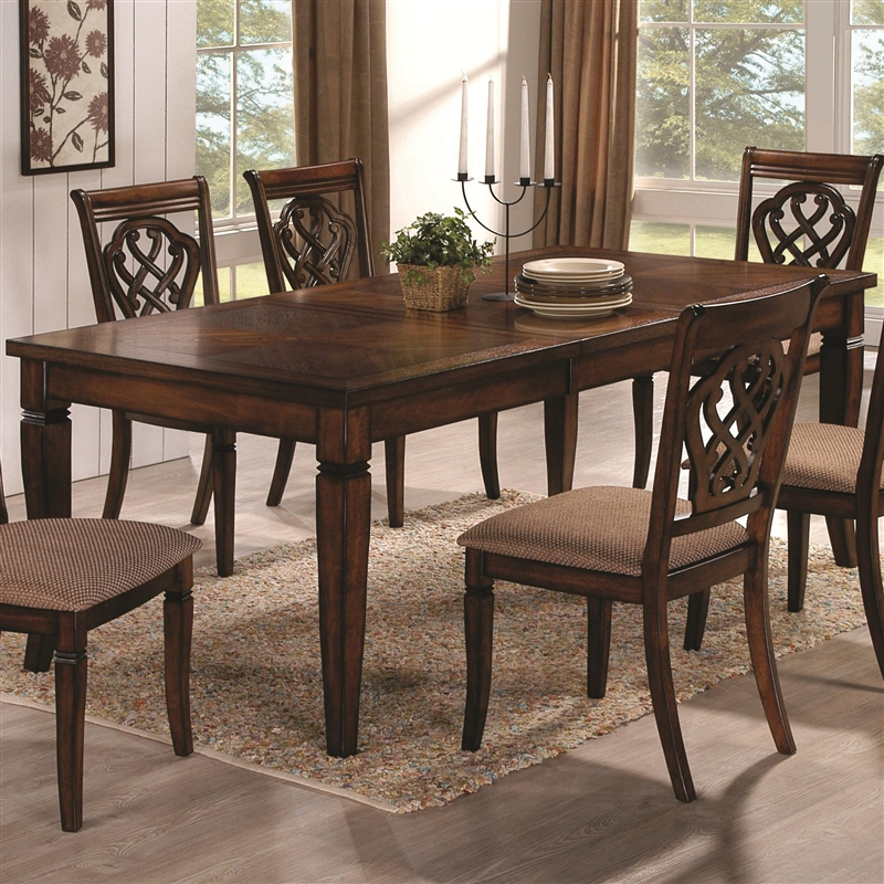 7 Piece Dining Set In Oak Finish By Coaster