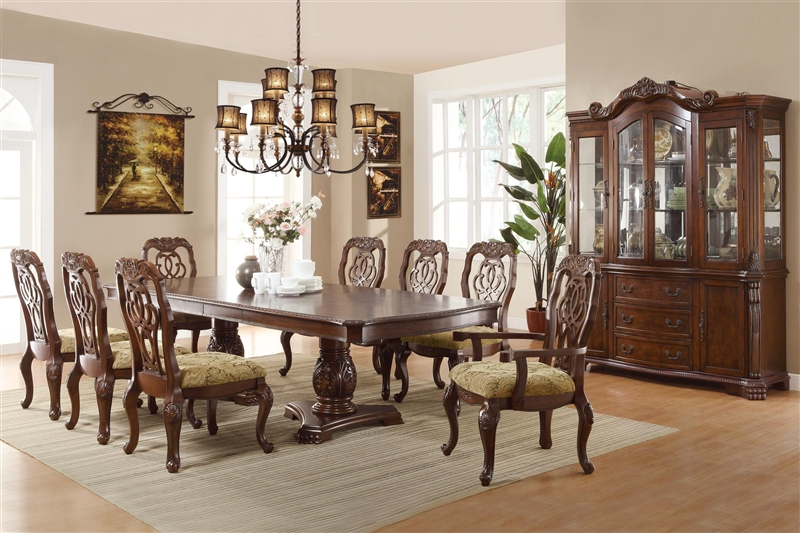 Marisol 7 Piece Dining Set In Cherry Finish By Coaster