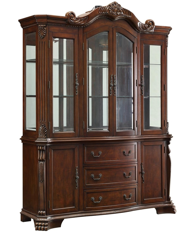 Marisol Buffet And Hutch In Cherry Finish By Coaster