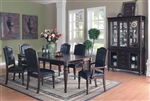 Anson 7 Pc Dining Table Set in Rich Brown Finish by Coaster - 103461