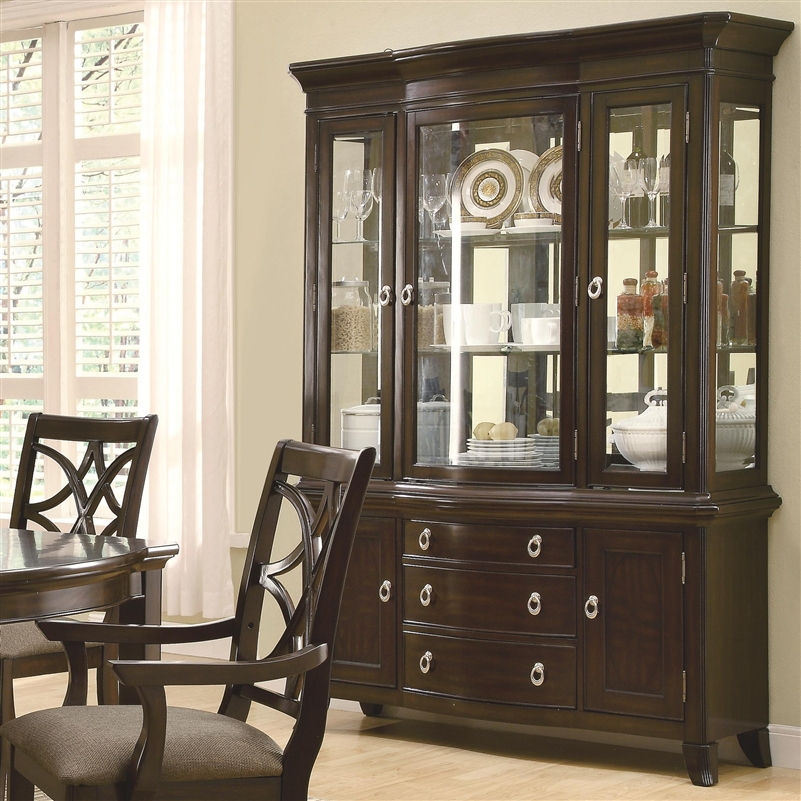 Meredith Buffet Hutch In Espresso Finish By Coaster