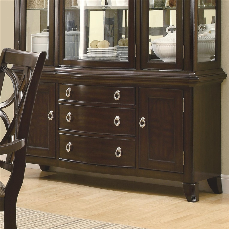 Meredith Buffet Amp Hutch In Espresso Finish By Coaster 103534