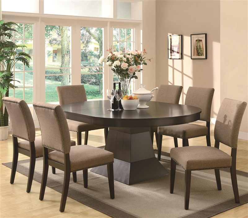 Myrtle 7 Piece Dining Set In Coffee