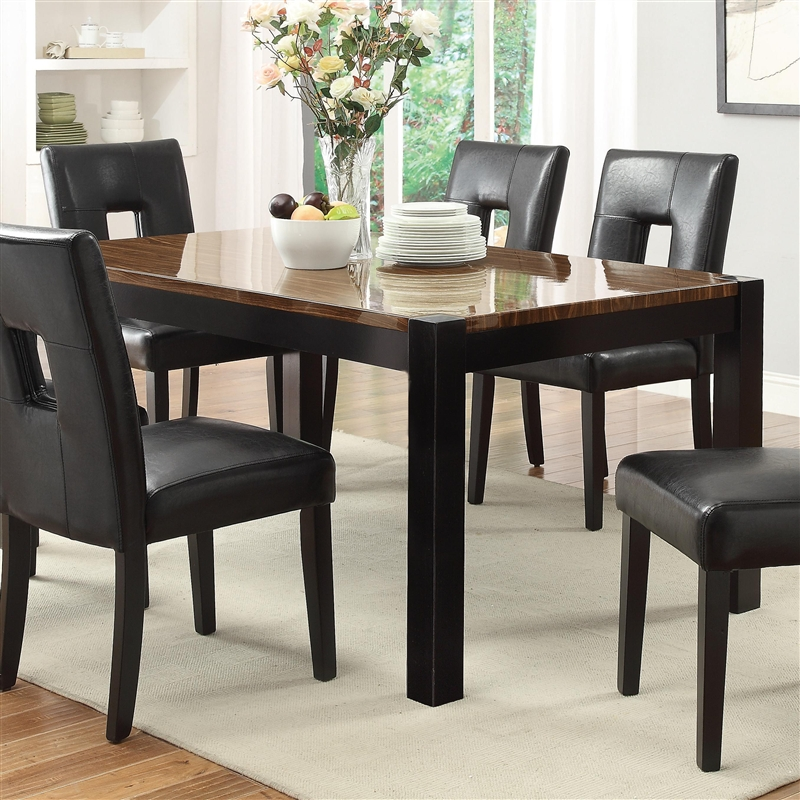 Timothy 7pc Dining Set W/ Black, Red, Or White Chairs In Two Tone Finish By  Coaster   103611