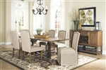 Parkins 7 Piece Dining Set in Coffee Finish by Coaster - 103712
