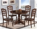 Davis 5 Piece Dining Set in Cappuccino Finish by Coaster - 103911