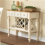 Ashley Server in Two Tone White and Oak Finish by Coaster - 104005