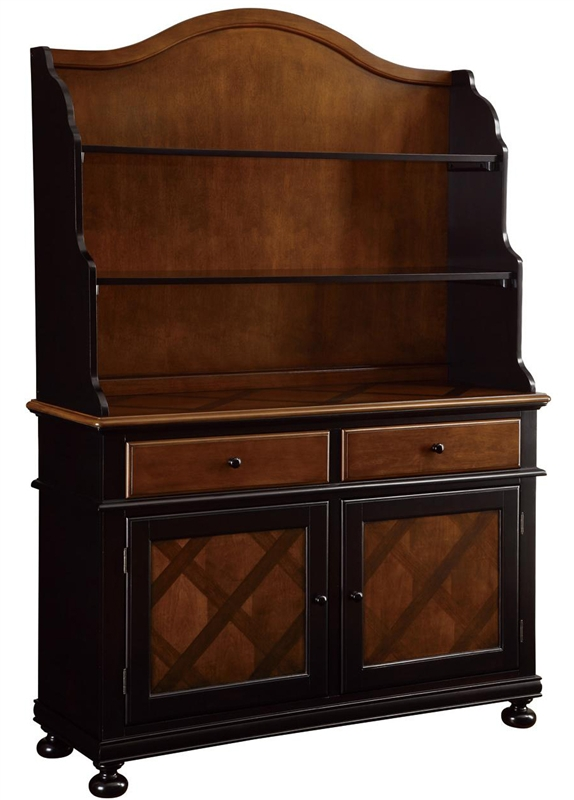 Connor Buffet U0026 Hutch In Two Tone Tobacco And Black Finish By Coaster    104194