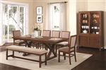 Camila 5 Piece Dining Table Set in Walnut Finish by Coaster - 104291