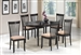 Nathan 5 Piece Dining Set w/ Butterfly Leaf in Cappuccino Finish by Coaster - 104321