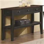 Kyla Server in Tobacco/Black Finish by Coaster - 104355