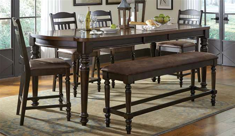 Mulligan 5 Piece Counter Height Dining Table Set In Latte Espresso Finish By Coaster 104788