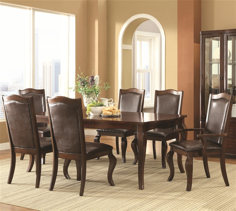 Louanna 5 Piece Dining Table Set In Espresso Finish By Coaster   104841
