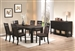 Arlington 5 Piece Dining Set in Wire Brushed Cocoa / Antique Black Finish by Coaster - 104890